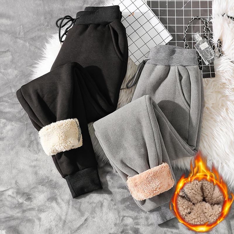 黑色绒打底裤女冬季羊羔v黑色加厚加绒超厚a黑色裤外穿东北特厚棉裤