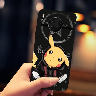 Huawei Mate30Pro mobile phone case MATE30 silicone black soft shell female models cute cartoon creative Huawei Mate30pro mobile phone shell ultra-thin full package MATE30 protection set anti-fall men and women