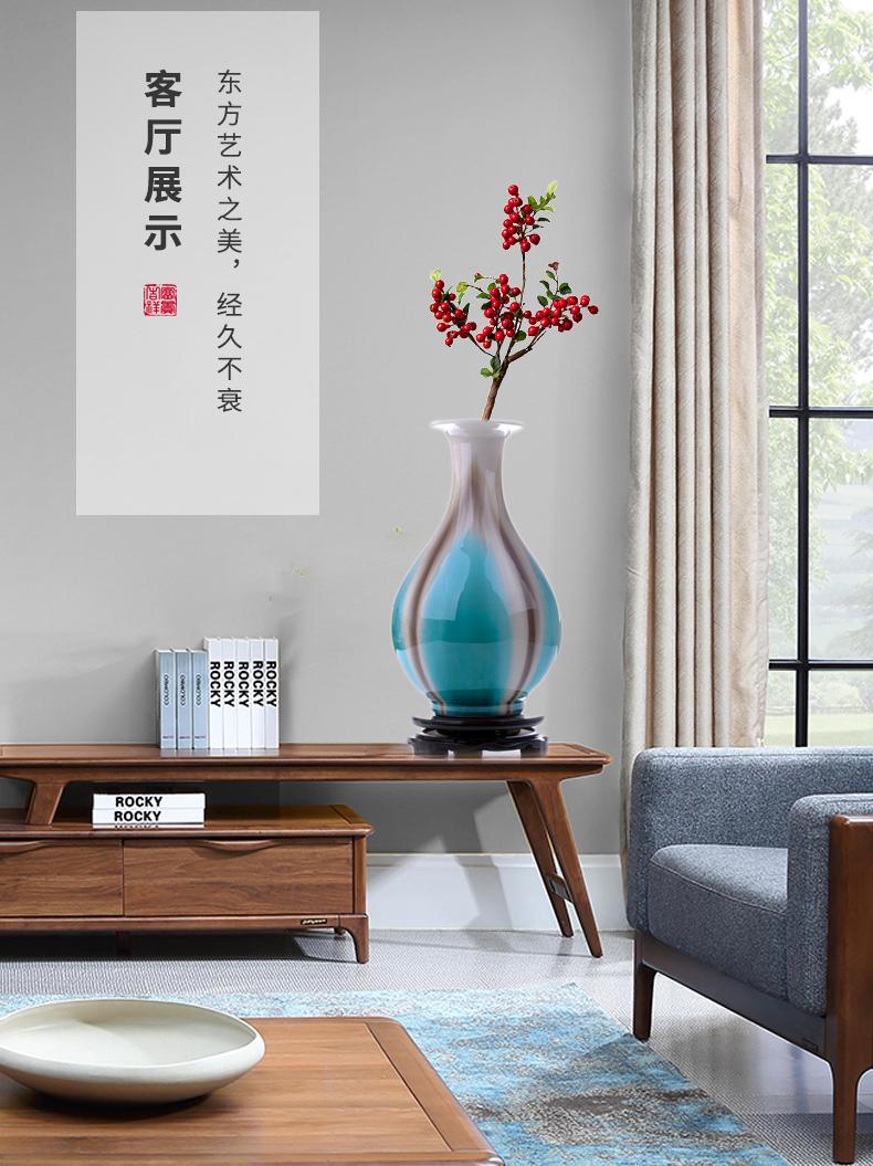 Jingdezhen up dried flower vase zen table furnishing articles sitting room porch TV ark, flower arranging ceramics decoration