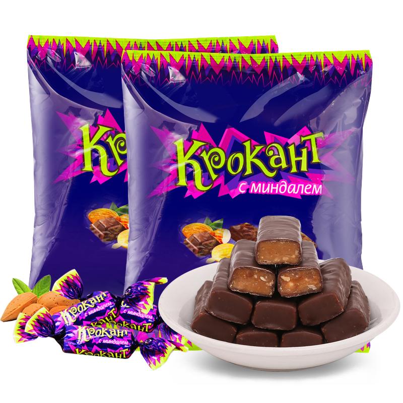 KDV俄罗斯紫皮糖kpokaht巧克力糖进口年货糖果零食品喜糖批发散装