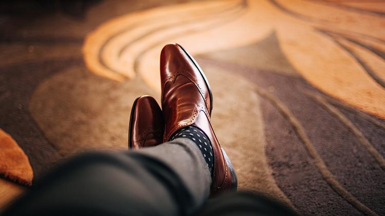 男士固特异手工皮鞋,难能可贵的品质
