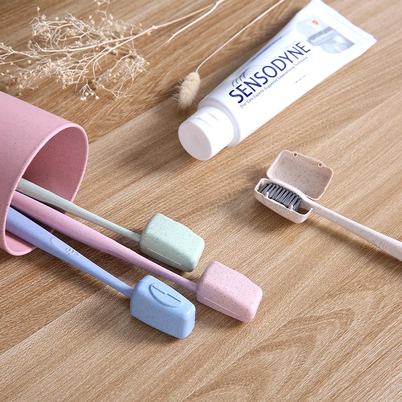 Vật tư du lịch chuyến đi kinh doanh thiết yếu ngoài trời hiện vật ở nước ngoài du lịch thiết bị túi vệ sinh sáng tạo bàn chải đánh răng di động hộp bàn chải đánh răng - Rửa sạch / Chăm sóc vật tư