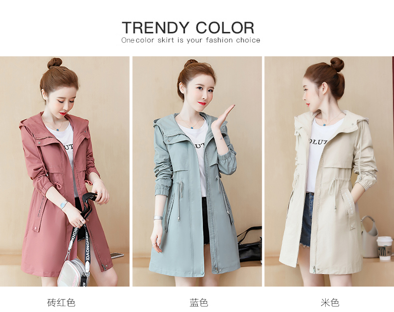 2020 Spring and Autumn new Korean version of the long-term waist fashion casual small man a hundred and Eight months windcoat jacket girl 52 Online shopping Bangladesh