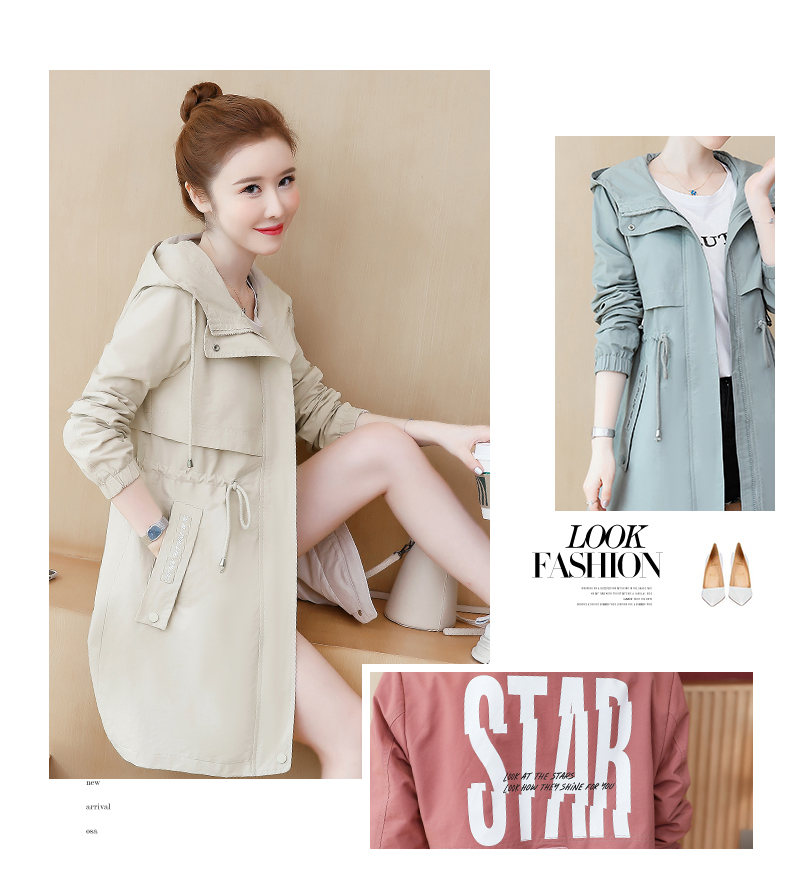 2020 Spring and Autumn new Korean version of the long-term waist fashion casual small man a hundred and Eight months windcoat jacket girl 45 Online shopping Bangladesh