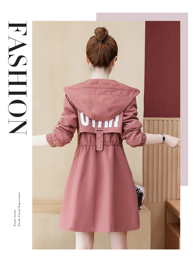 2020 Spring and Autumn new Korean version of the long-term waist fashion casual small man a hundred and Eight months windcoat jacket girl 46 Online shopping Bangladesh