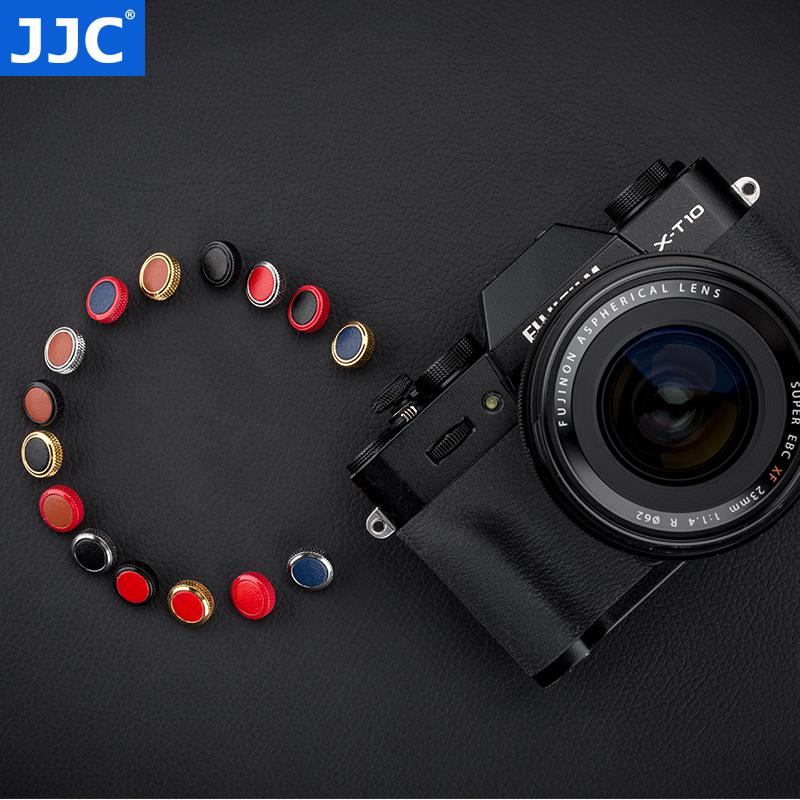 JJC Fuji shutter button XPRO2 X100F X100T XE3 XT20 XT2 XT10 XT3 gs645S XT30  Sony RX1RII camera shutter button leather gold plated