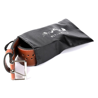 Leather fitness belt sports squatting weight hard pull power to carry out heavy waist men and women training storage bag
