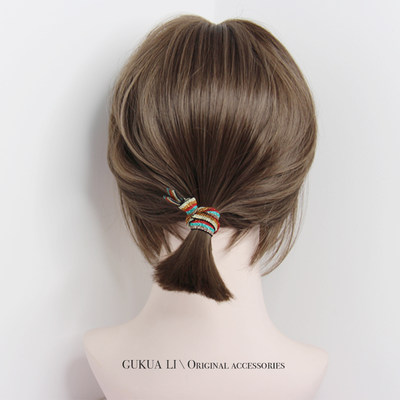 Rainbow strikes, good, simple, hair, hair, hair, Korean style, hair, gold, sparkle, high elastic force