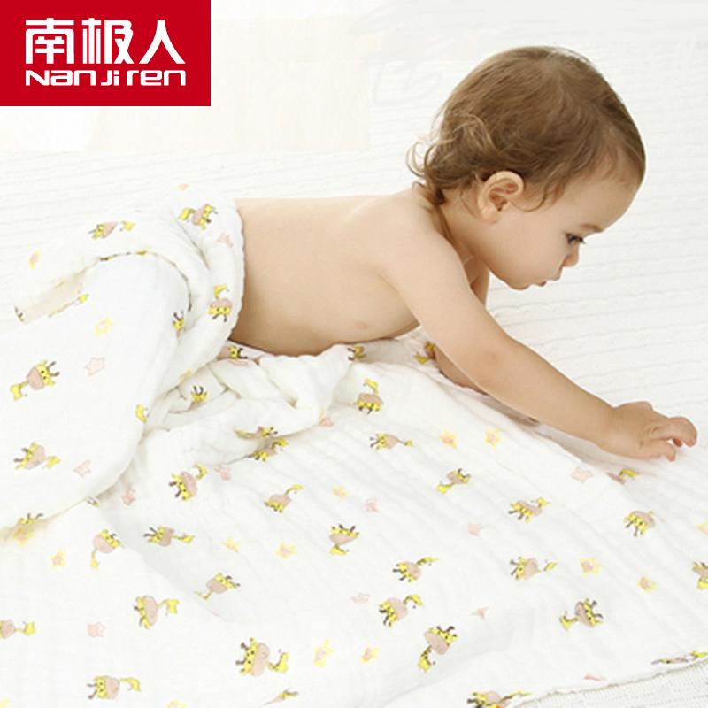 【南极人】婴儿浴巾棉纱布6层105cm-秒客网
