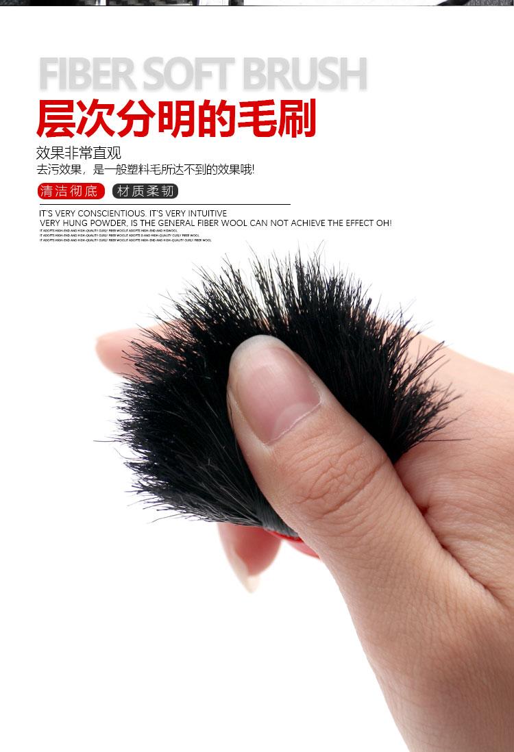 洗车木头柄汽车美容细节清洁毛刷件套毛刷门缝刷子小毛刷!详细照片
