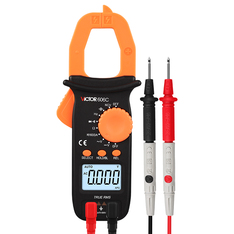 Victory Clamp Meter Digital Multimeter High-precision Anti-burning  Automatic AC-DC Voltage Clamp-type Current Universal Meter