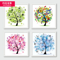 New 5D diamond painting 2019 living room spring and summer point sticky diamond full diamond brick show stick diamond cross stitch small small
