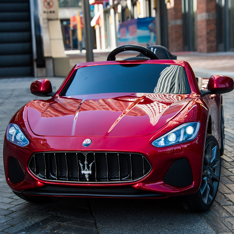Maserati children's electric car four-wheel four-wheel drive child baby oversized toy car with remote control can sit people