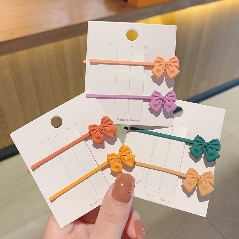 Korea new  frosted bow hairpin NHCQ269773