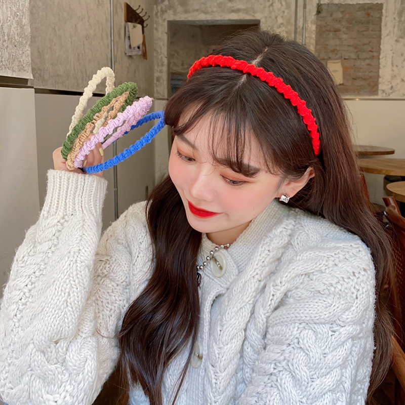 Korea  new candy-colored woolen hairband  NHCQ269771