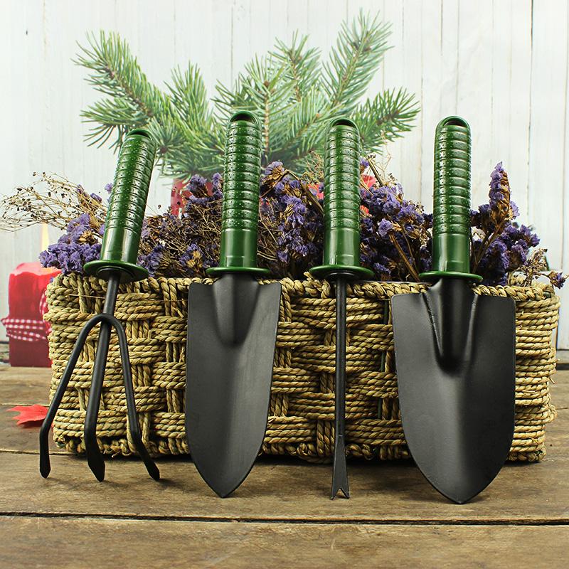 家庭园艺种植四件套钢制种花铲子耙子叉