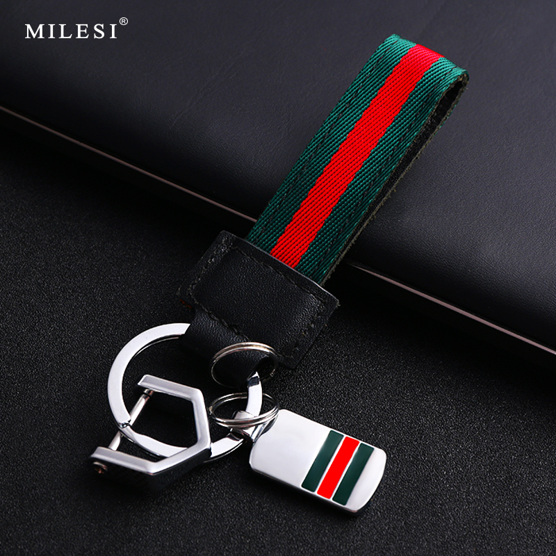Car key chain men's belt key chain Tide brand pendant creative remote key ring ring custom lettering simple personality