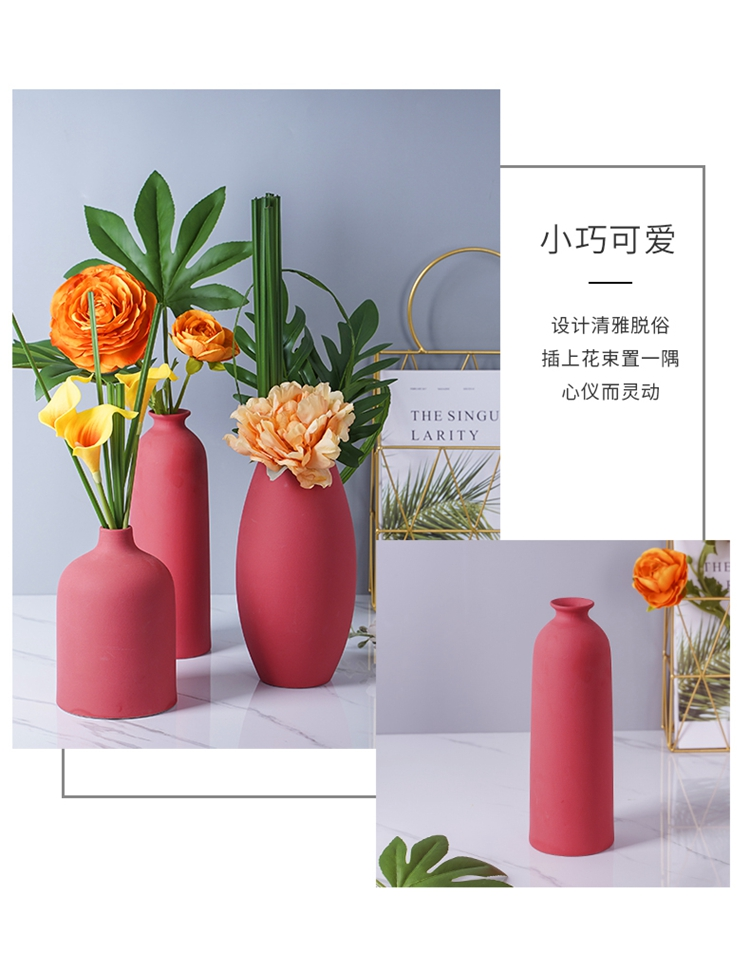 Nordic vase simulation of dried flowers sitting room adornment flowers flower arrangement table modern TV ark, ceramic creative wine furnishing articles