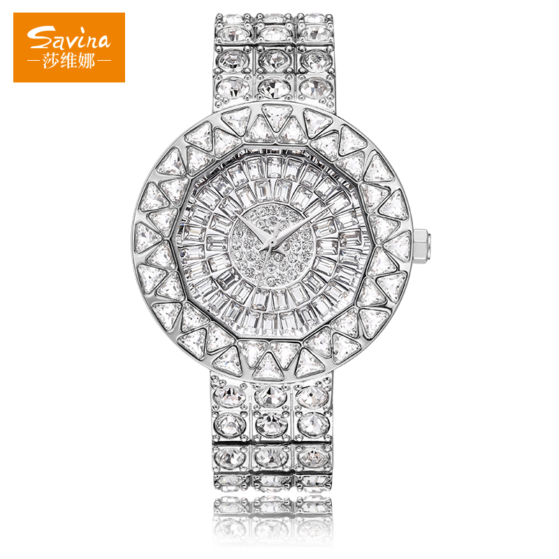 from full new female dress item s diamond colors crystal luxury rhinestone in women on watches quartz