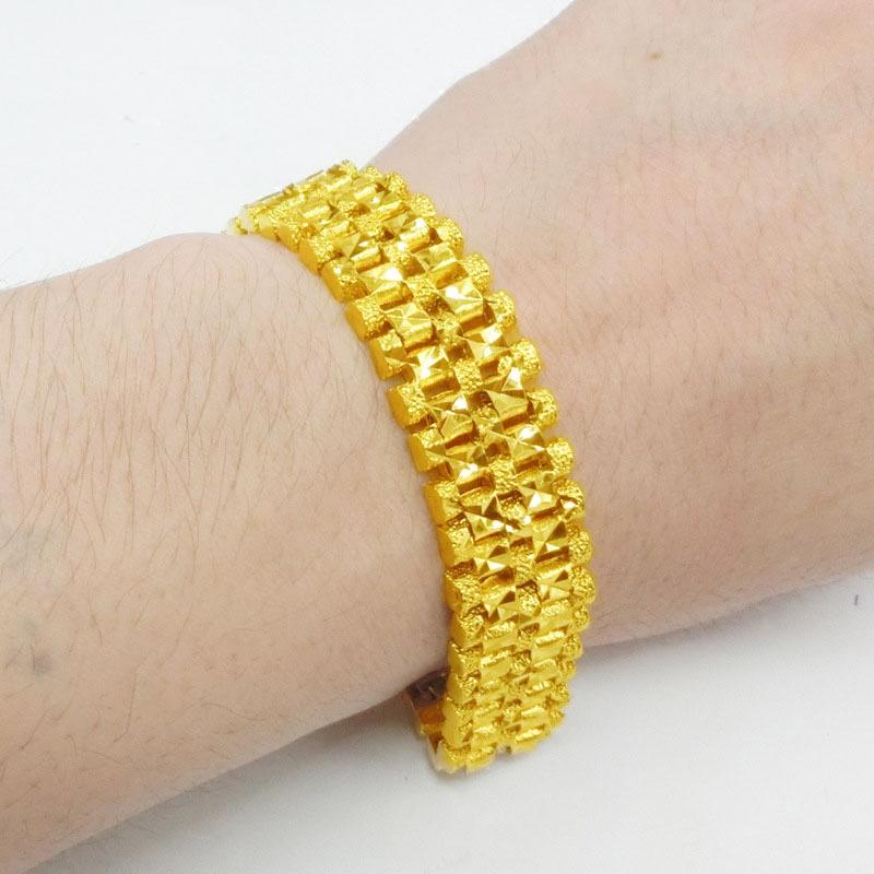 新款欧币金饰品a手表手表手链宽镀黄金礼物链久不褪色男士首饰沙金