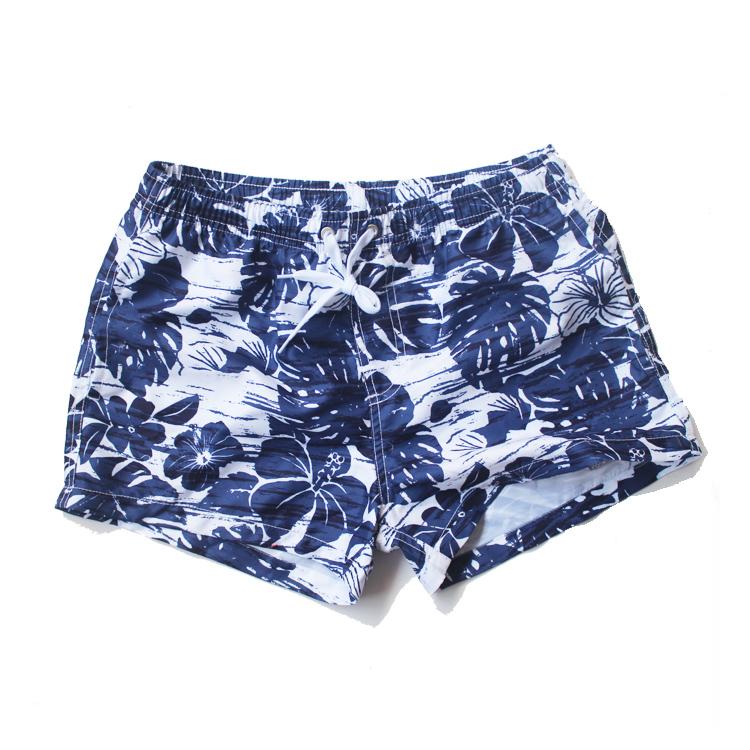 希宾低腰印花沙滩裤宽松速干短裤海边休闲运动度假男士游泳三分裤
