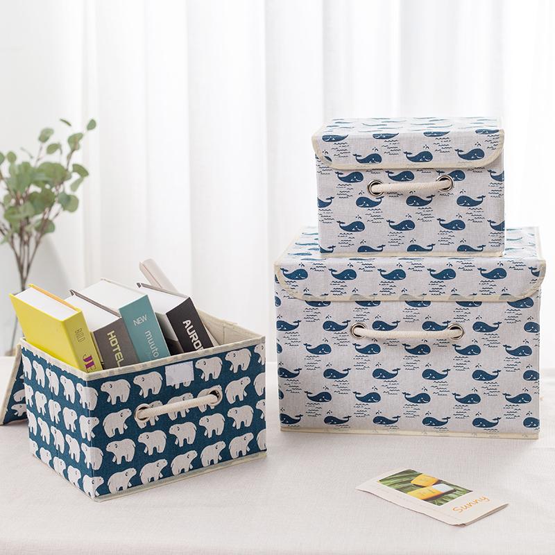 内衣牛津帆布v内衣箱可整理布艺小号盒无纺布衣物衣服储物折叠箱子