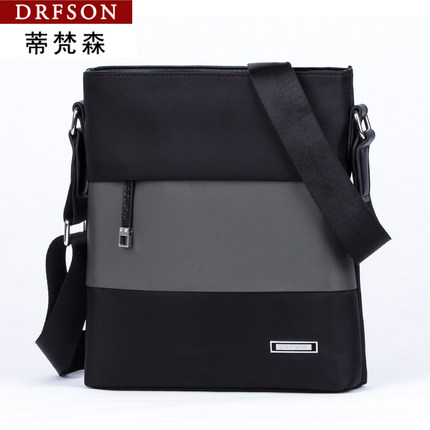 2017 DRFSON New Korean Style Casual Men's Canvas Sling Bag
