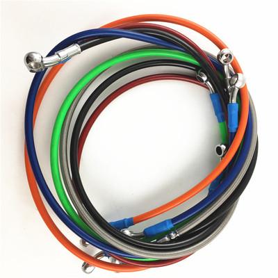 骠骑电摩改装下泵刹车油管钢喉folmdo95/110/220cm油管非爱得利
