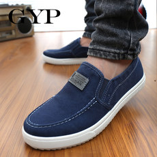Canvas shoes casual Korean version of the wild lazy cloth shoes peas men's shoes tide shoes breathable spring shoes trend a pedal