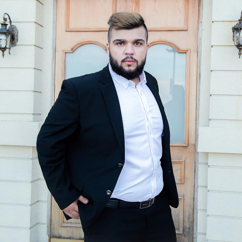 4fbc5993a3 Suit suit men s formal wear XL plus fertilizer interview suit fat professional  wear groom groomsmen wedding dress
