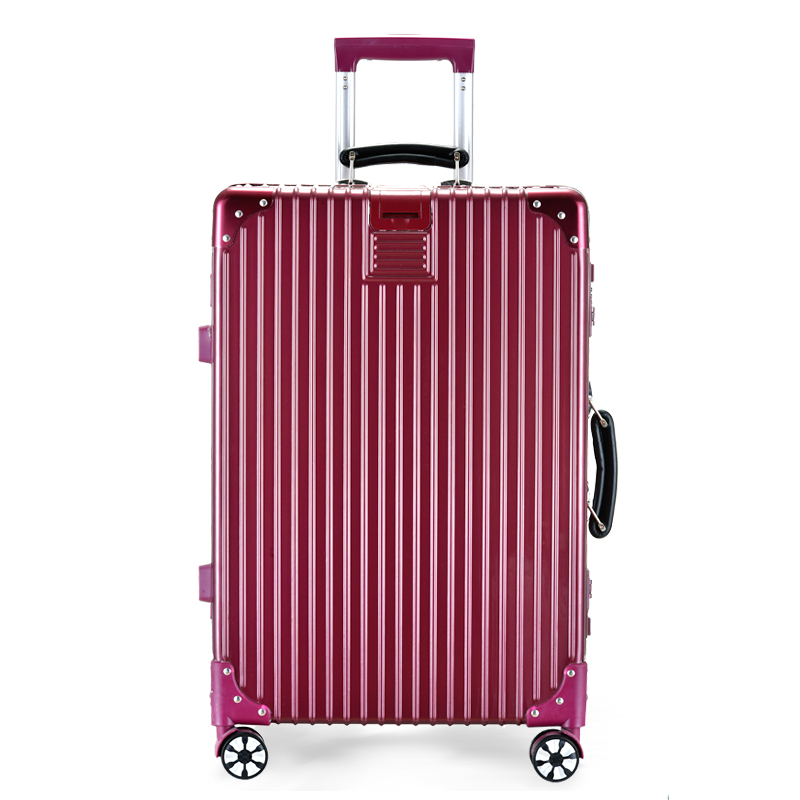 Luggage net red trolley case female aluminum frame suitcase universal wheel male ins password box 20 inch 24 leather box 28