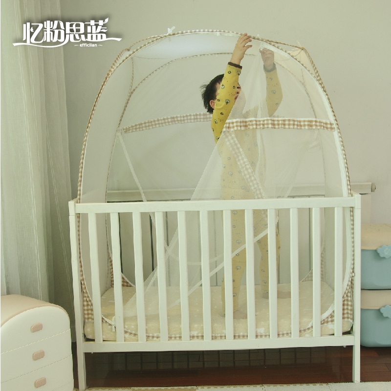 Baby Bed Anti Fall Slide Tops Mongolian Folding Baby Children S Mosquito Net Cover Free Installation Plus High Perspective A