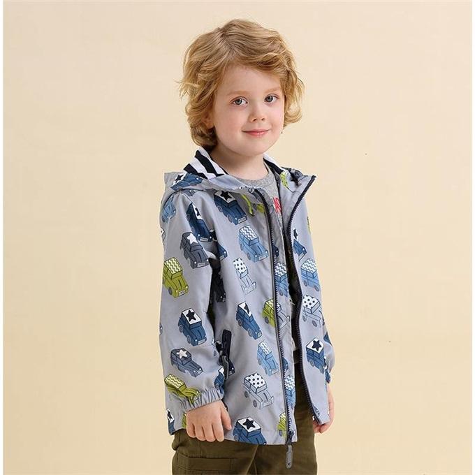 外套童年I.K拉链印象童装新款儿童连帽满印汽车时尚上衣男童秋款