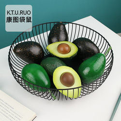 Simulation fruit model, fake avocado, vegetable decoration, early education puzzle shooting props, shop window model decoration