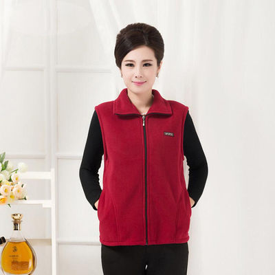 2020 new mother autumn and winter coat female 40-50 years old old age vest middle-aged women's dress coat