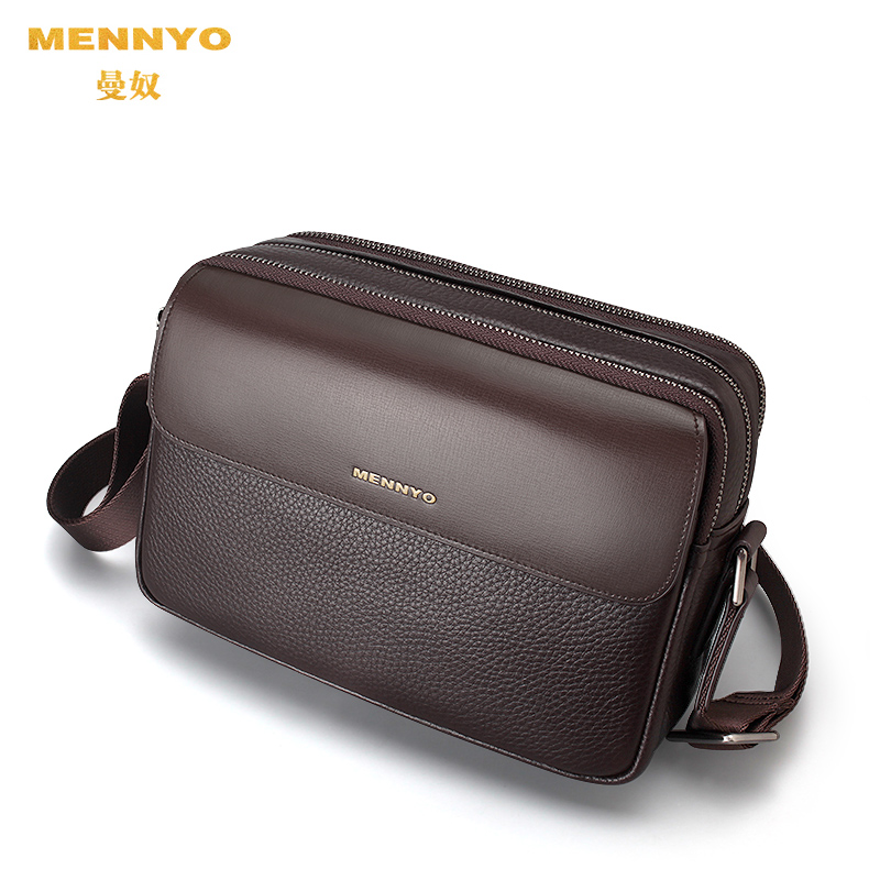 01ad7c9e6ab Manu men bag messenger bag leather shoulder bag first layer of leather  casual soft leather small