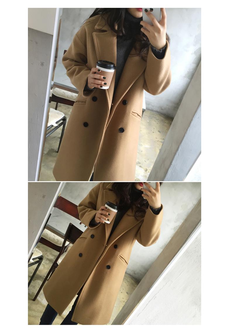 Len áo khoác nữ chống mùa dày mùa thu và mùa đông phụ nữ mới của Hàn Quốc phiên bản của kích thước lớn lỏng phần dài áo len sinh viên