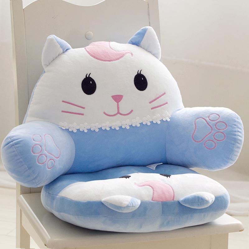 Babe mèo có thể tháo rời và có thể giặt đệm xe văn phòng thắt lưng hỗ trợ eo đệm đệm eo gối đệm ghế đệm lưng lớn - Trở lại đệm / Bolsters