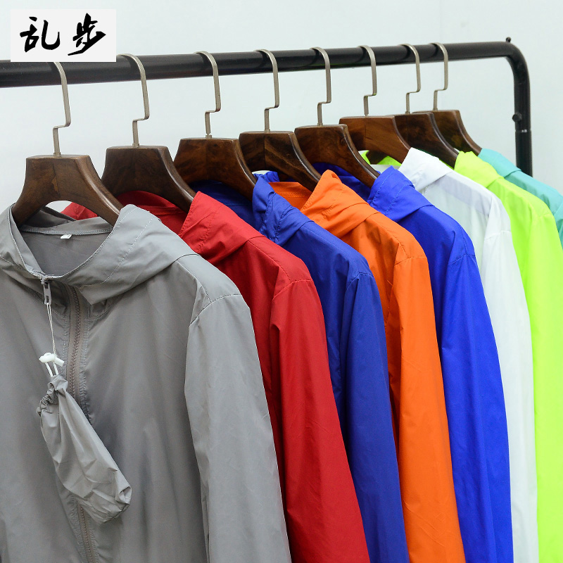 Outdoor summer sun clothing men's jacket thin section breathable sunscreen Sportswear Women's skin clothing fishing clothing large yards tide