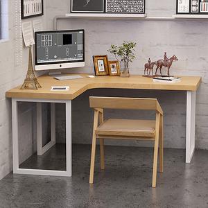 北欧简约现代原实木家用L型转角书桌卧室墙拐角工作台电脑办公桌
