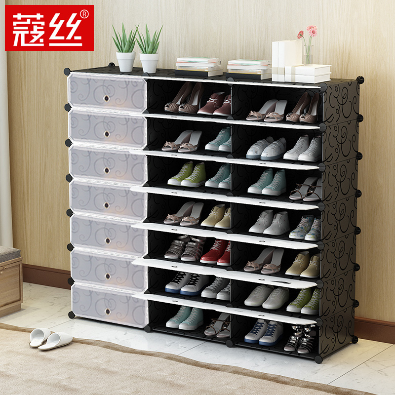 Can Put Boots] Thick Plastic Transparent Shoes Box Storage Shoes Finishing Box  Storage Storage Box
