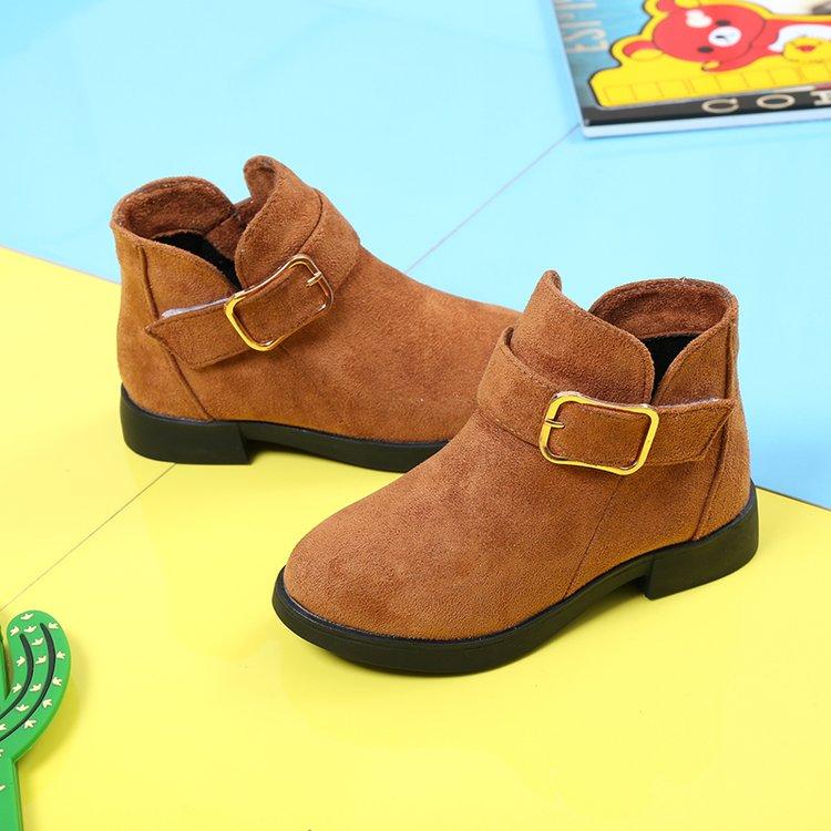 Корейский новинка зимний осеннний в больших детей ребенок ботинки матовая кожа мальчиков и девочек, обувной студент ботинки дети мартин сапоги волна