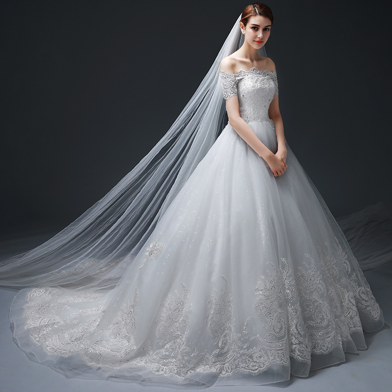 264ceba2d4 USD 521.27  Wedding 2018 New trailing bride out of the palace simple ...