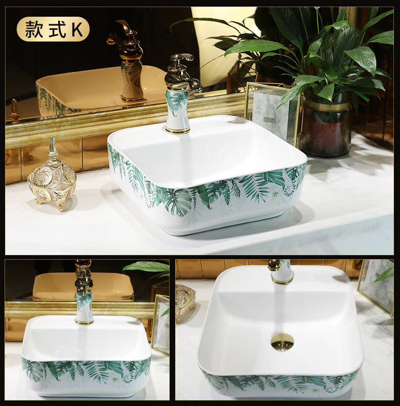 The Lavatory ceramic household toilet wash basin that wash a face the oval art stage basin size lavabo is contracted