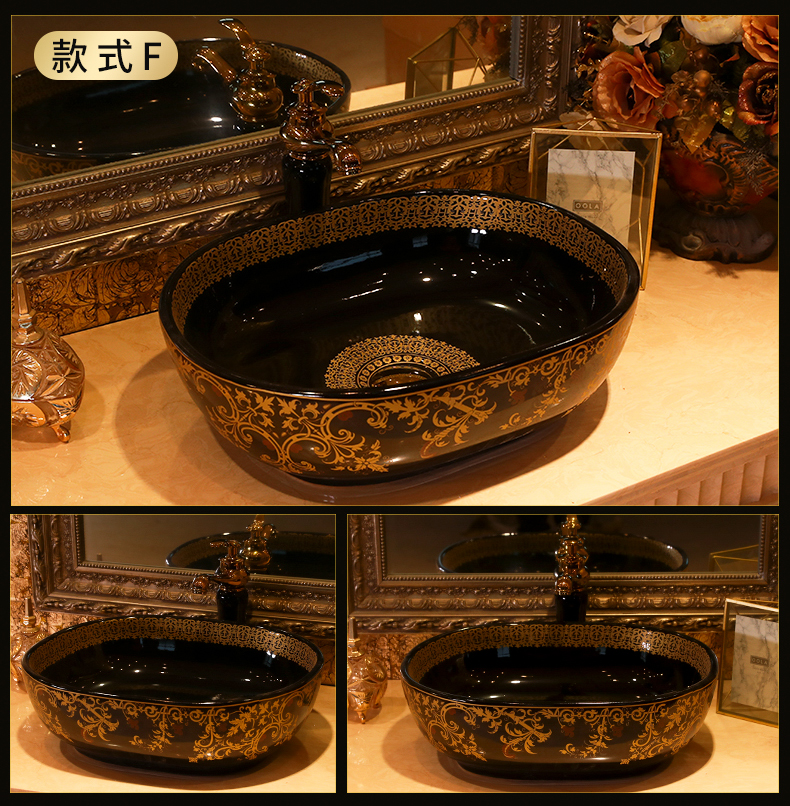 European - style minimalism art stage basin stage basin ceramic lavatory household balcony toilet lavabo single pool