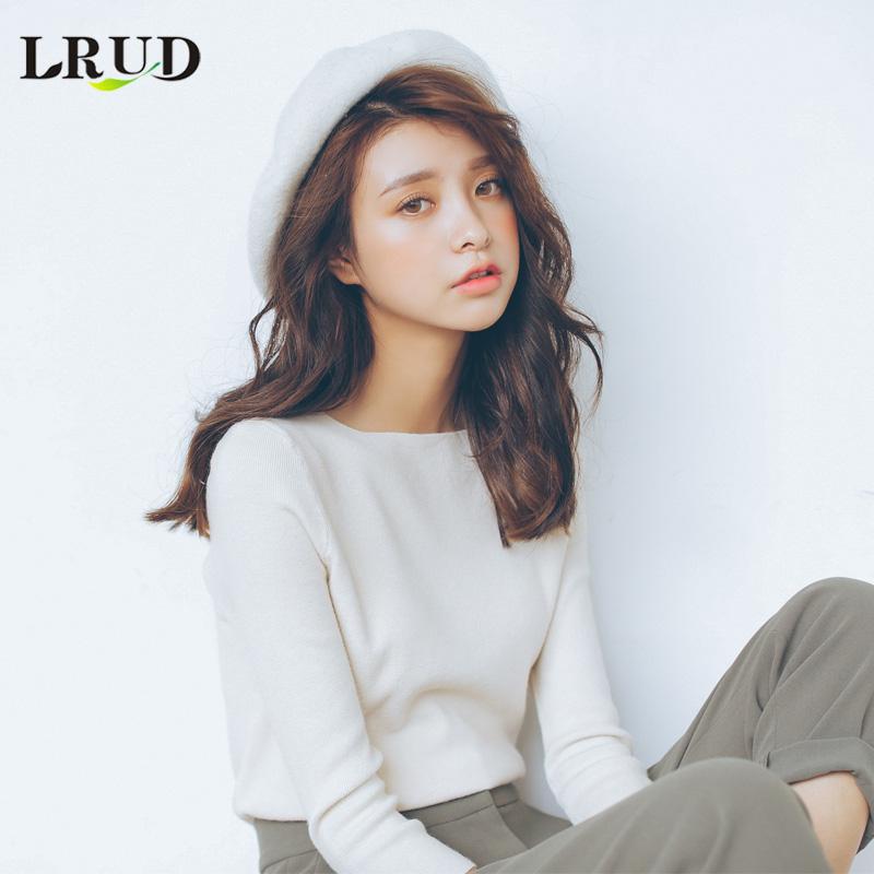 LRUD свитер женщина 2018 весна новая девушка наряд корейская волна свободный хеджирование длинный рукав свитер студент свитер