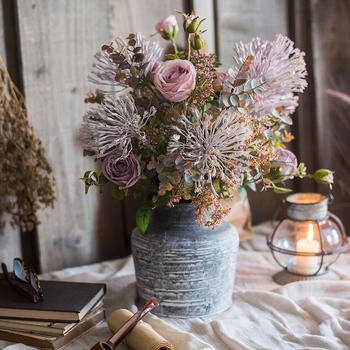 Горсть содержит в себе Задержаться тур моделирование сухие цветы букет пластик декоративный поддельный цветок цветок домой гостиная обеденный стол цветок украшение качели установить, цена 3761 руб