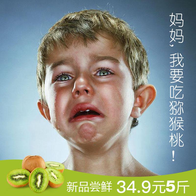 陕西眉县徐香绿心新鲜果园现摘现发中大果猕猴桃奇异果5斤包邮