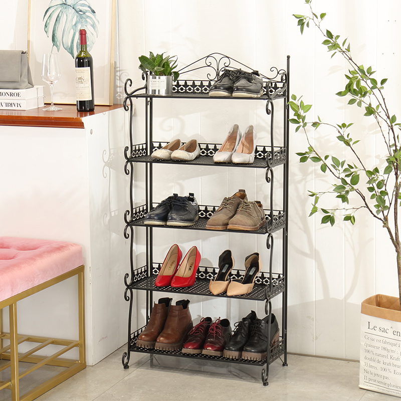 Laocoon Creative Folding Iron Shoes Rack Living Room Simple 345 Storey  Enlarged Shoe Rack Bedroom