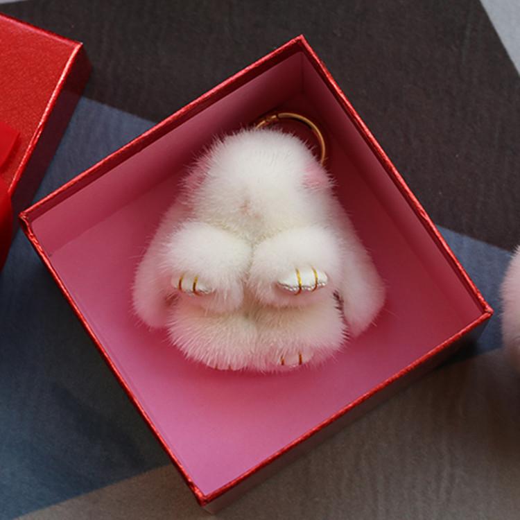 韩国水貂毛 迷你小号兔子挂件